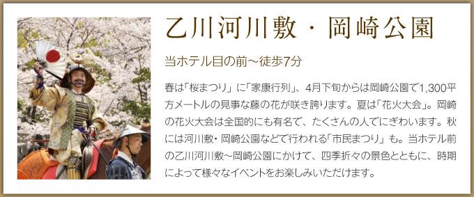 乙川河川敷・岡崎城